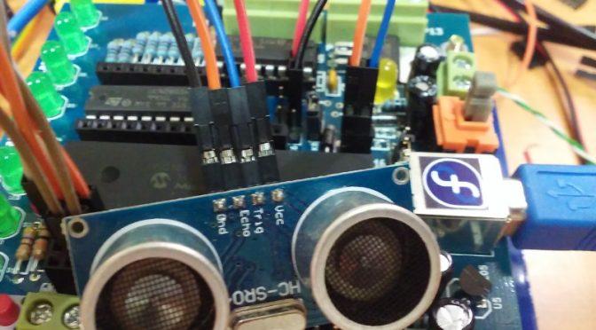 Sensor ultrasónico HC-SR04 en Icaro