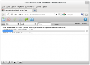 Interfase web de transmission